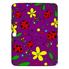Ladybugs   Purple Samsung Galaxy Tab 3 (10 1 ) P5200 Hardshell Case  by Valentinaart