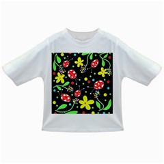 Flowers And Ladybugs Infant/toddler T Shirts by Valentinaart