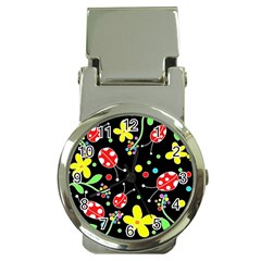 Flowers And Ladybugs Money Clip Watches