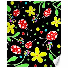 Flowers And Ladybugs Canvas 16  X 20   by Valentinaart