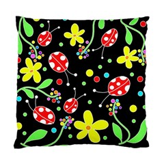 Flowers And Ladybugs Standard Cushion Case (one Side) by Valentinaart