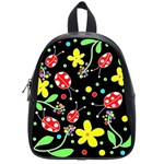 Flowers and ladybugs School Bags (Small)  Front