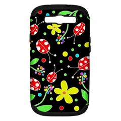 Flowers And Ladybugs Samsung Galaxy S Iii Hardshell Case (pc+silicone) by Valentinaart