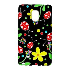 Flowers And Ladybugs Galaxy Note Edge by Valentinaart