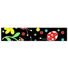Flowers And Ladybugs Flano Scarf (small) by Valentinaart