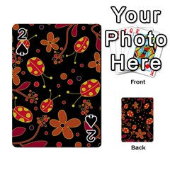 Flowers And Ladybugs 2 Playing Cards 54 Designs