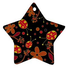 Flowers And Ladybugs 2 Star Ornament (two Sides)  by Valentinaart