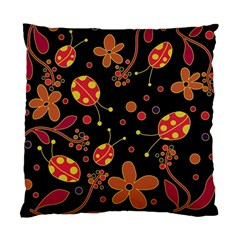 Flowers And Ladybugs 2 Standard Cushion Case (one Side) by Valentinaart