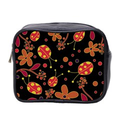 Flowers And Ladybugs 2 Mini Toiletries Bag 2 Side by Valentinaart