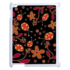 Flowers And Ladybugs 2 Apple Ipad 2 Case (white) by Valentinaart
