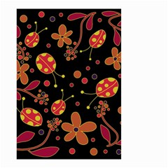 Flowers And Ladybugs 2 Small Garden Flag (two Sides) by Valentinaart