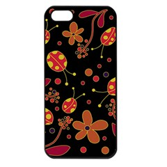 Flowers And Ladybugs 2 Apple Iphone 5 Seamless Case (black) by Valentinaart