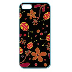Flowers And Ladybugs 2 Apple Seamless Iphone 5 Case (color) by Valentinaart