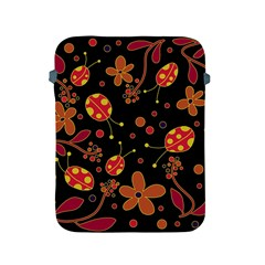 Flowers And Ladybugs 2 Apple Ipad 2/3/4 Protective Soft Cases by Valentinaart