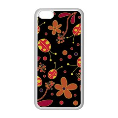 Flowers And Ladybugs 2 Apple Iphone 5c Seamless Case (white) by Valentinaart