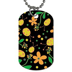 Ladybugs And Flowers 3 Dog Tag (two Sides) by Valentinaart