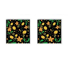 Ladybugs And Flowers 3 Cufflinks (square) by Valentinaart