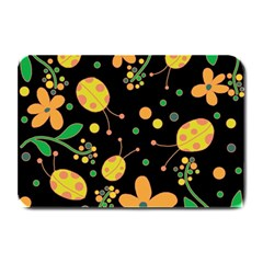 Ladybugs And Flowers 3 Plate Mats by Valentinaart