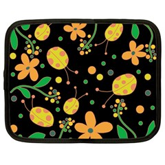 Ladybugs And Flowers 3 Netbook Case (large) by Valentinaart