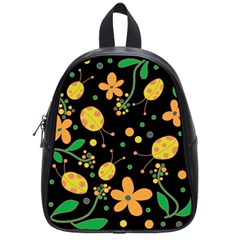 Ladybugs And Flowers 3 School Bags (small)  by Valentinaart