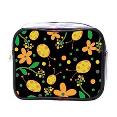 Ladybugs And Flowers 3 Mini Toiletries Bags by Valentinaart