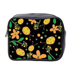 Ladybugs And Flowers 3 Mini Toiletries Bag 2 Side by Valentinaart