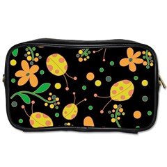 Ladybugs And Flowers 3 Toiletries Bags 2 Side by Valentinaart