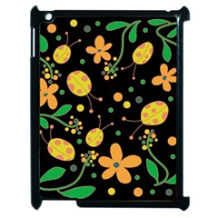 Ladybugs And Flowers 3 Apple Ipad 2 Case (black) by Valentinaart
