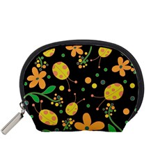 Ladybugs And Flowers 3 Accessory Pouches (small)  by Valentinaart