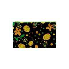 Ladybugs And Flowers 3 Cosmetic Bag (xs) by Valentinaart