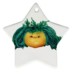 Angry Girl Doll Ornament (star)  by dflcprints