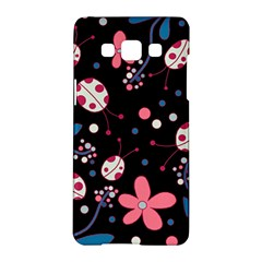 Pink Ladybugs And Flowers  Samsung Galaxy A5 Hardshell Case