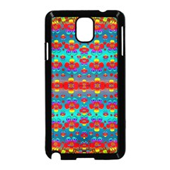 Peace Flowers And Rainbows In The Sky Samsung Galaxy Note 3 Neo Hardshell Case (black) by pepitasart