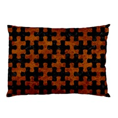Puzzle1 Black Marble & Brown Marble Pillow Case (two Sides) by trendistuff