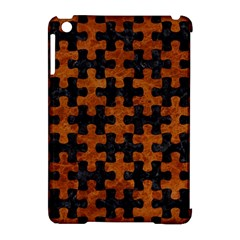 Puzzle1 Black Marble & Brown Marble Apple Ipad Mini Hardshell Case (compatible With Smart Cover) by trendistuff