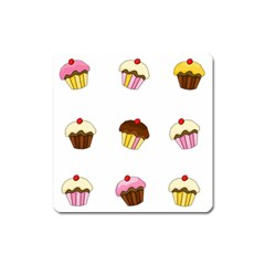 Colorful Cupcakes  Square Magnet by Valentinaart
