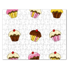 Colorful Cupcakes  Rectangular Jigsaw Puzzl by Valentinaart