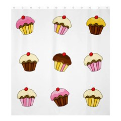 Colorful Cupcakes  Shower Curtain 66  X 72  (large)  by Valentinaart