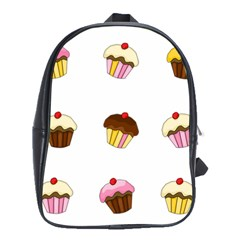 Colorful Cupcakes  School Bags(large)  by Valentinaart