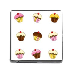 Colorful Cupcakes  Memory Card Reader (square) by Valentinaart