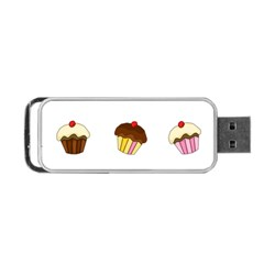 Colorful Cupcakes  Portable Usb Flash (two Sides) by Valentinaart