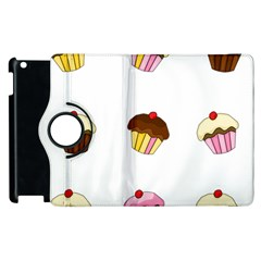 Colorful Cupcakes  Apple Ipad 2 Flip 360 Case by Valentinaart