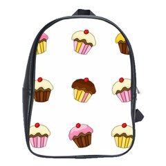 Colorful Cupcakes  School Bags (xl)  by Valentinaart