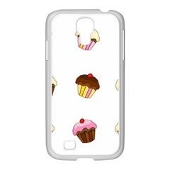 Colorful Cupcakes  Samsung Galaxy S4 I9500/ I9505 Case (white) by Valentinaart