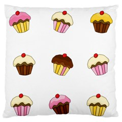 Colorful Cupcakes  Large Flano Cushion Case (one Side) by Valentinaart