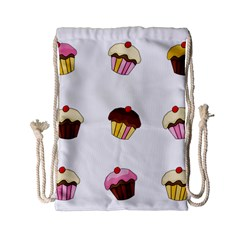 Colorful Cupcakes  Drawstring Bag (small) by Valentinaart