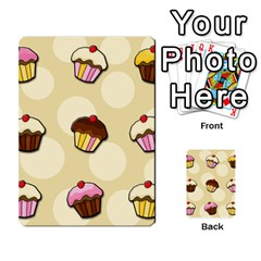 Colorful Cupcakes Pattern Multi Purpose Cards (rectangle)  by Valentinaart