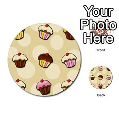 Colorful Cupcakes Pattern Multi Purpose Cards (round)  by Valentinaart