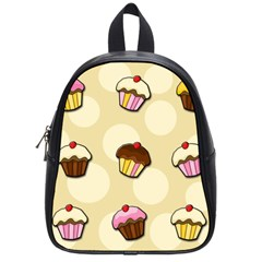 Colorful Cupcakes Pattern School Bags (small)  by Valentinaart