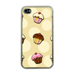 Colorful Cupcakes Pattern Apple Iphone 4 Case (clear)